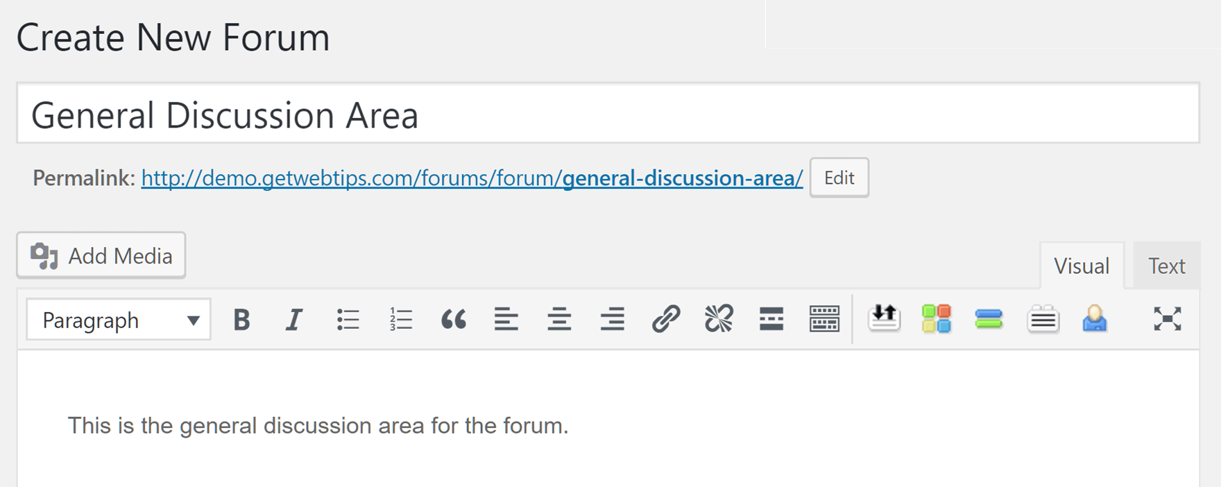 Create a Forum with bbPress