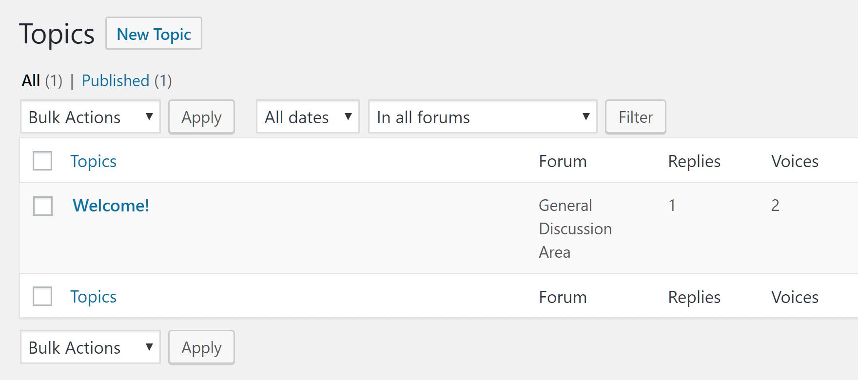 Manage Topics