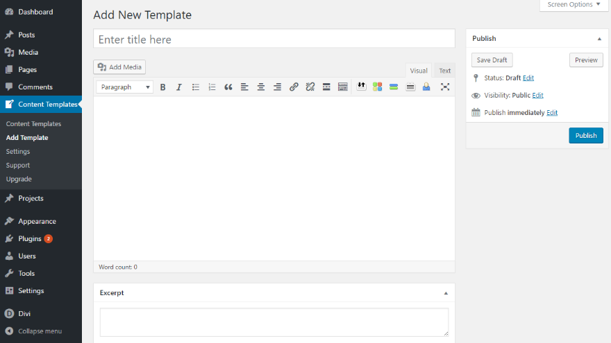 How to create re usable templates for your wordpress blog for Create blog page template wordpress