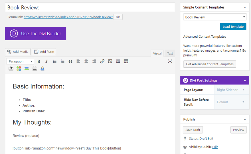 How to Create Re-Usable Templates for Your WordPress Blog Posts ...