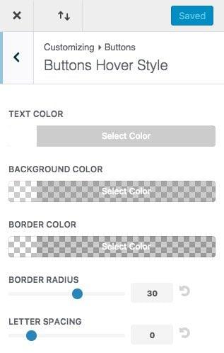Divi Theme Customizer