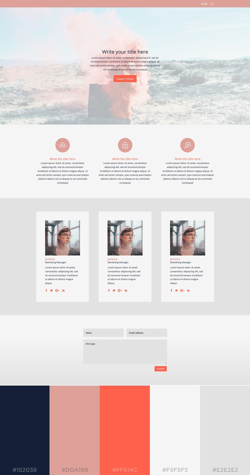 Who doesn't love the rosé color? This next color palette brings a feminine factor to your website. The light colors are dominating the website, ...