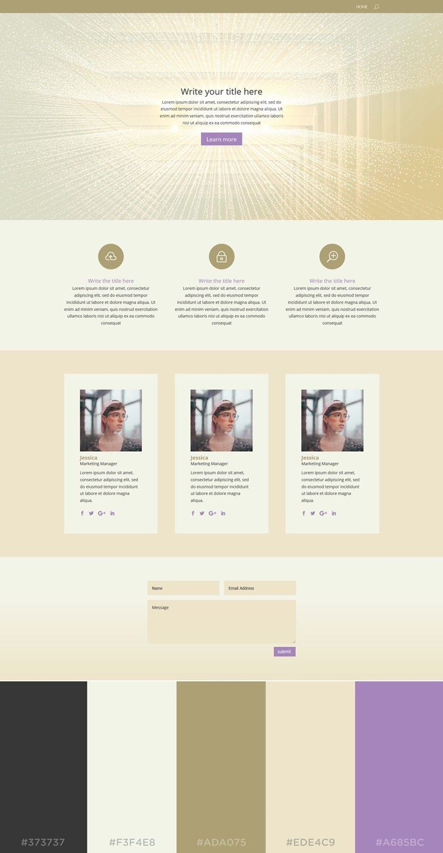 Website soft colors - The Soft Beige Colors Allow Your Website To Reflect A Kind Of Exclusivity While The Color Palette Looks Pretty Sober The Purple Turquoise Color In This