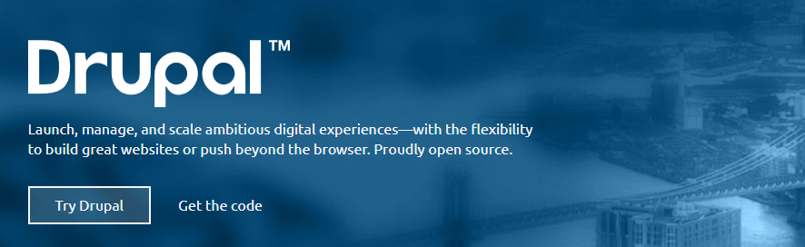 The Drupal homepage.