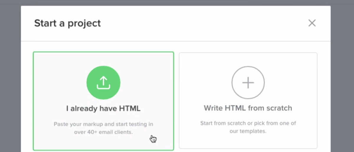 Pasting your HTML on the Litmus dashboard.