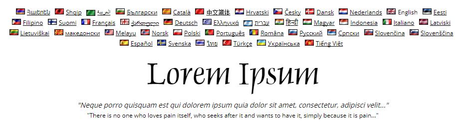 The Lipsum Generator website.