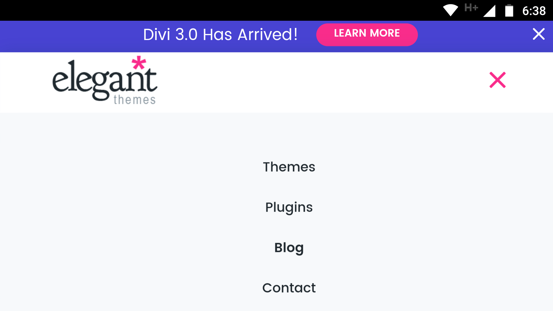 A mobile menu.
