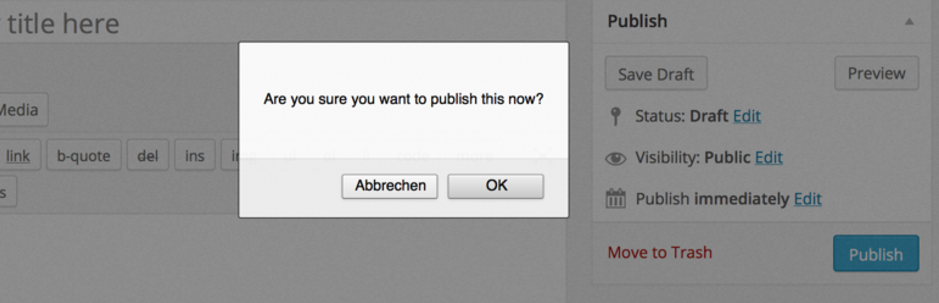 The Publish Confirm plugin.