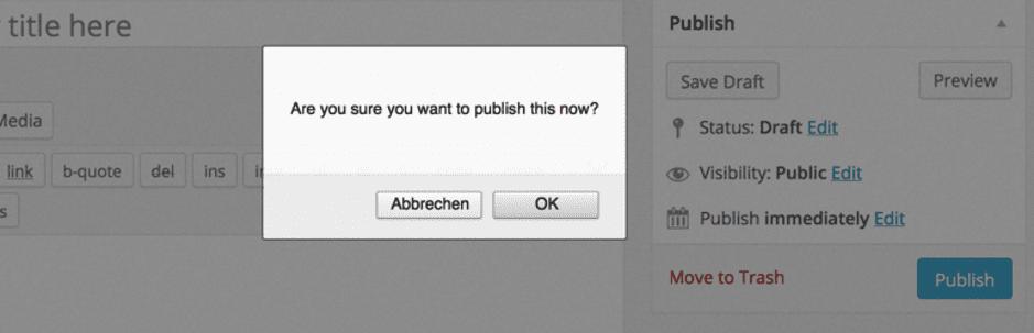 The Publish Confirm plugin.