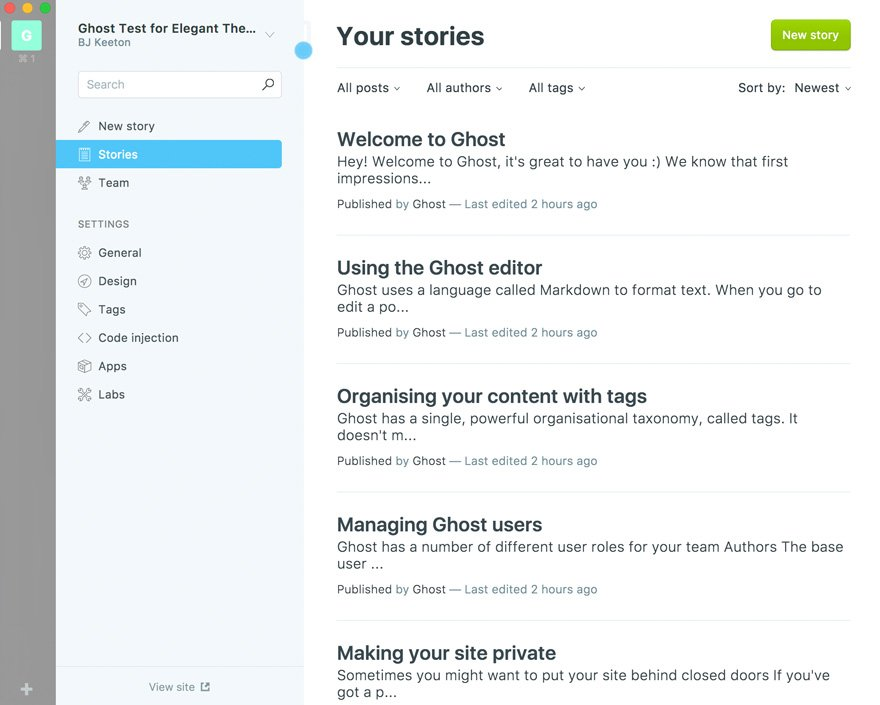 Ghost 1.0 Blogging and Publishing Platform