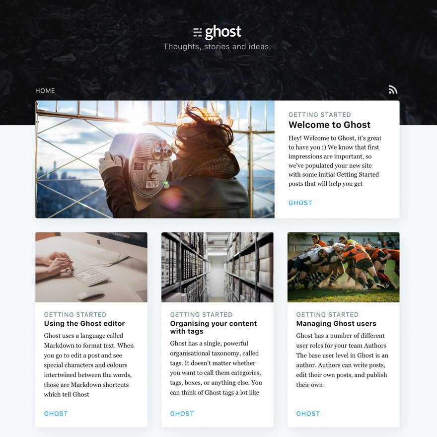 004 - Ghost 1.0 Publishing and Blogging Platform