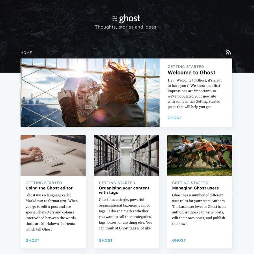 004 - Ghost 1.0 Publishing and Blogging Platform