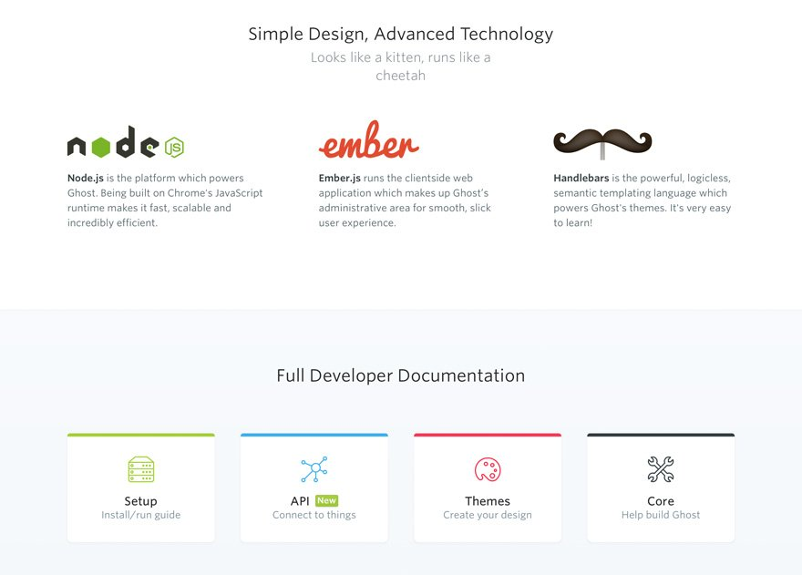 Ghost 1.0 is built on JavaScript