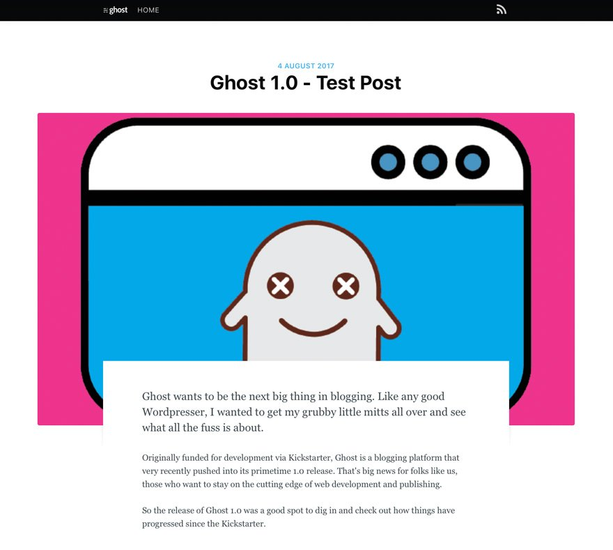 Ghost 1.0 Theme Example
