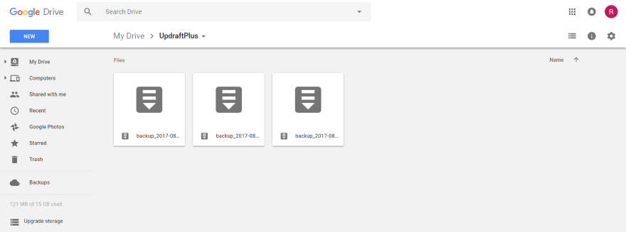 backup 5 - sao lưu trang web WordPress