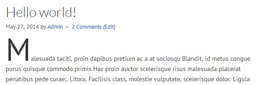 Simple Drop Caps WordPress Plugin