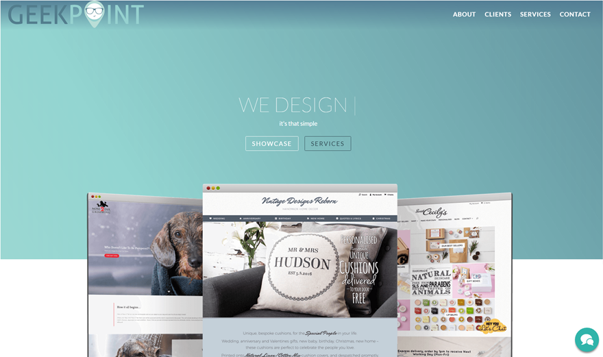 14 examples of awesome web design websites built with divi for Decorating sites