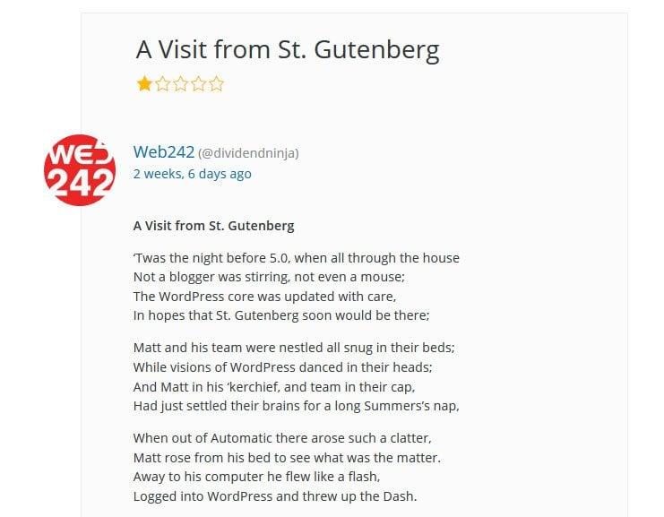 gutenberg review poem