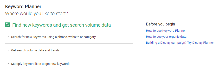 Google's Keyword Planner.
