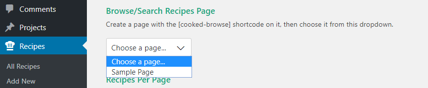 Configuring your recipe library.