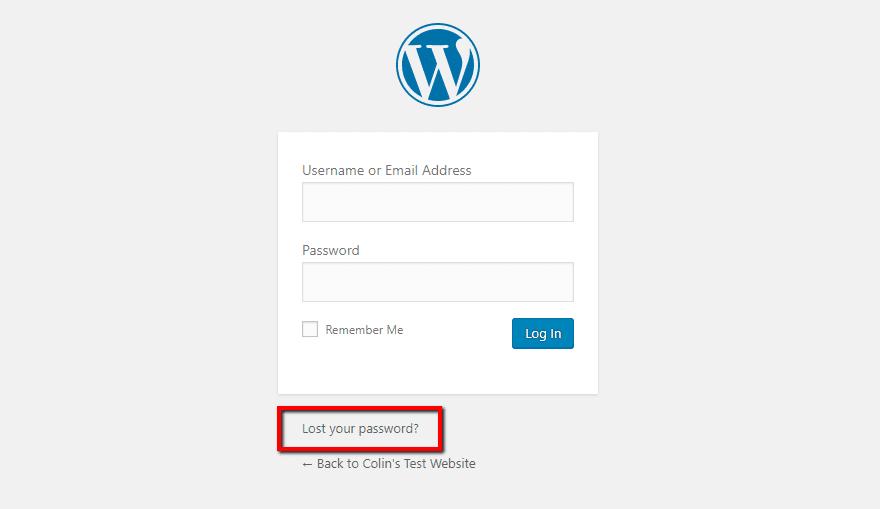 wordpress reset admin password