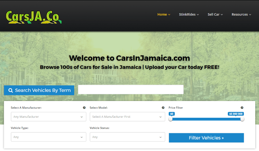 Jamaica Car Dealers Websites