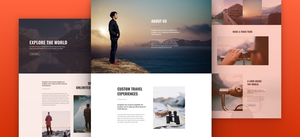 Stunning Free Divi Layout Pack for Travel Websites