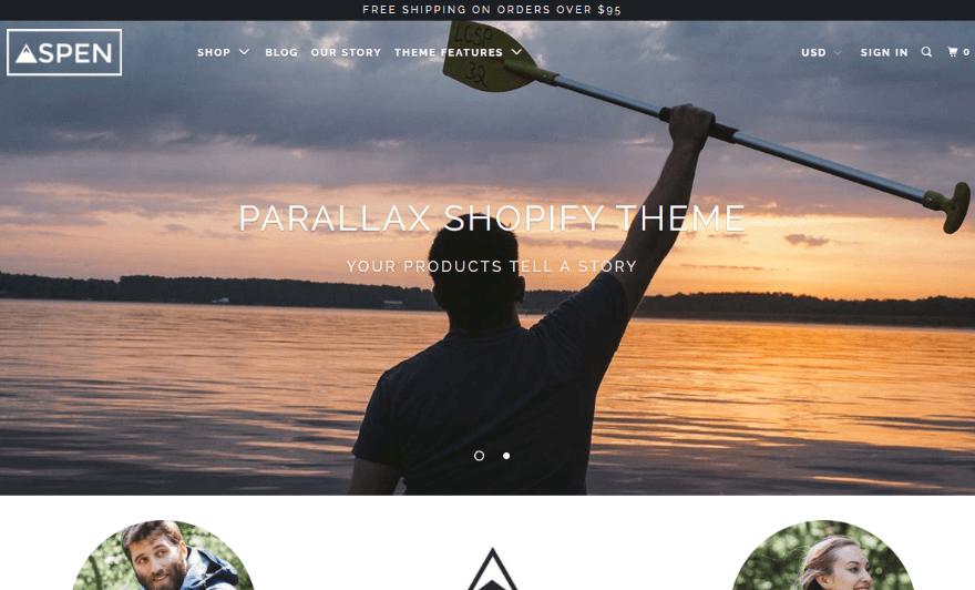 Parallax Theme/Aspen
