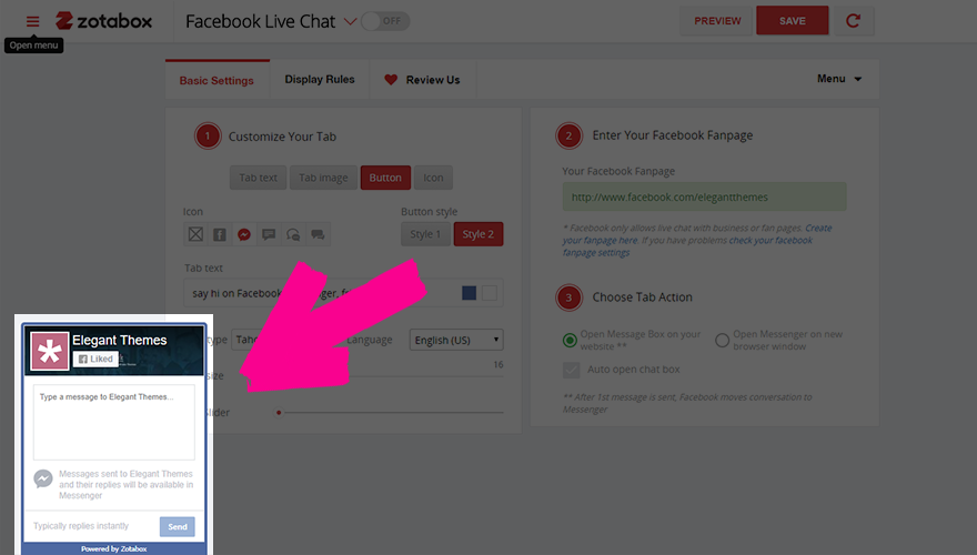 add facebook messenger to wordpress