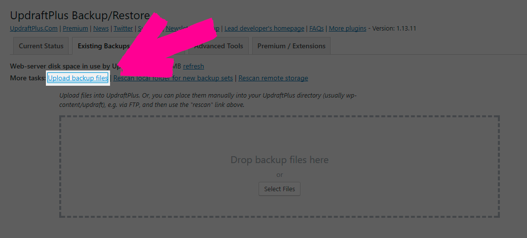 wordpress database recovery