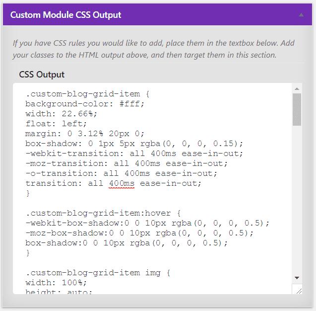 Divi blog module custom post type