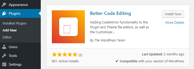 The Better Code Editing plugin.