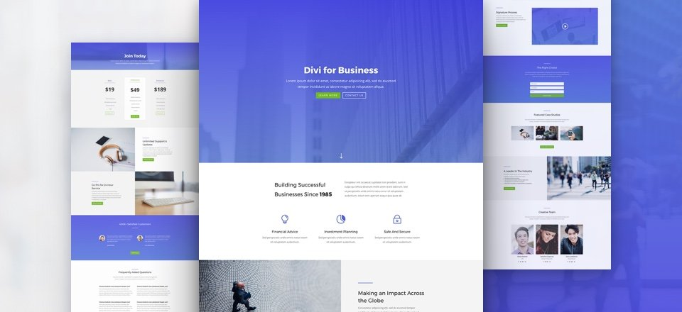 divi business layout pack featured image ¿Qué es Divi?