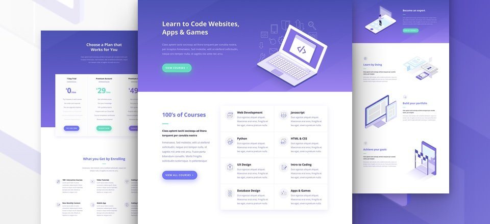Download a Free Breathtaking Learning Management (LMS) Layout Pack for Divi