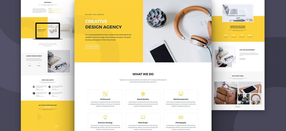 Download a Free & Impressive Design Agency Layout Pack for Divi