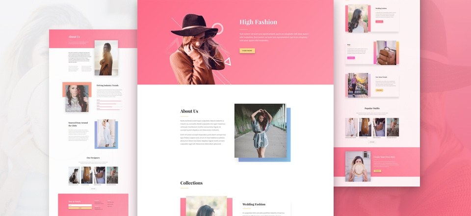 Download a Stylish Fashion Layout Pack for Divi
