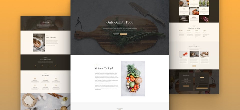 Download A Beautiful (Free) Divi Restaurant Layout Pack