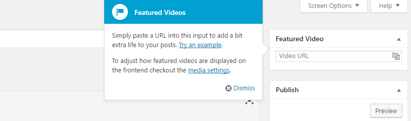 The featured video widget.
