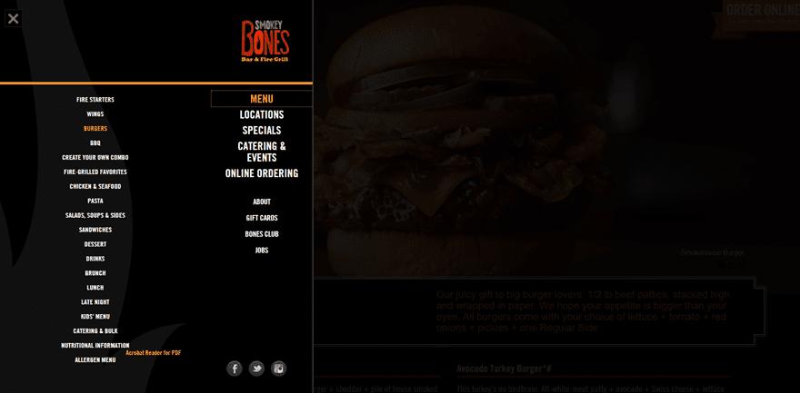 12 tasty examples of restaurant menu design on the web elegant