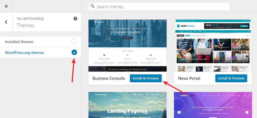 Wordpress Org Themes For Business | Oxynux.Org