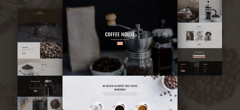 Download a Tasty & Free Coffee Shop Layout Pack for Divi