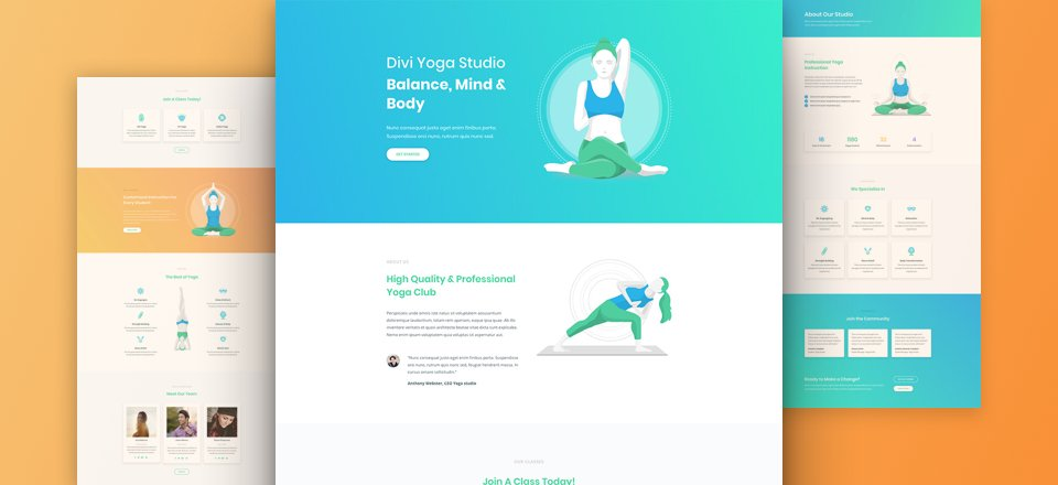 Download a Free & Inspiring Yoga Layout Pack for Divi