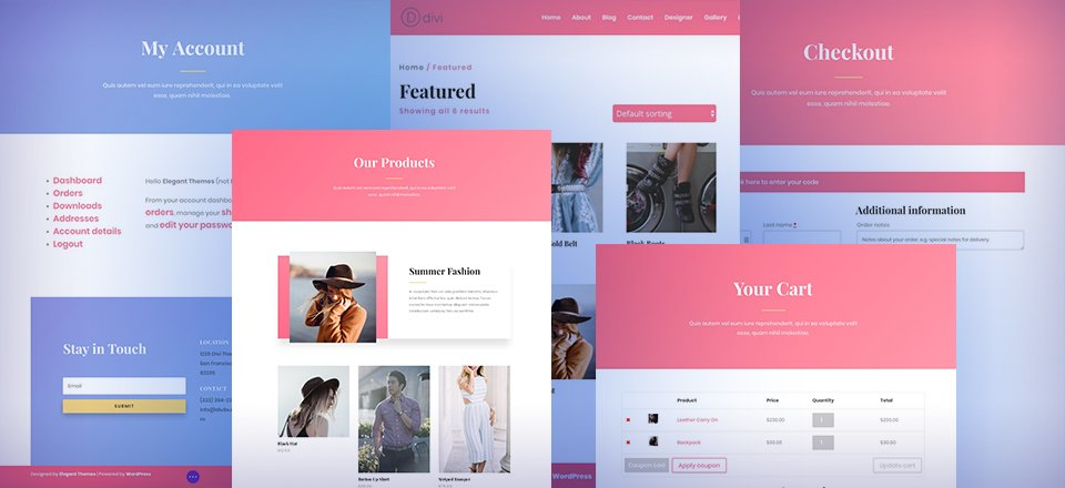 Using Divi's Fashion Layout Pack to Create an Online Store with WooCommerce