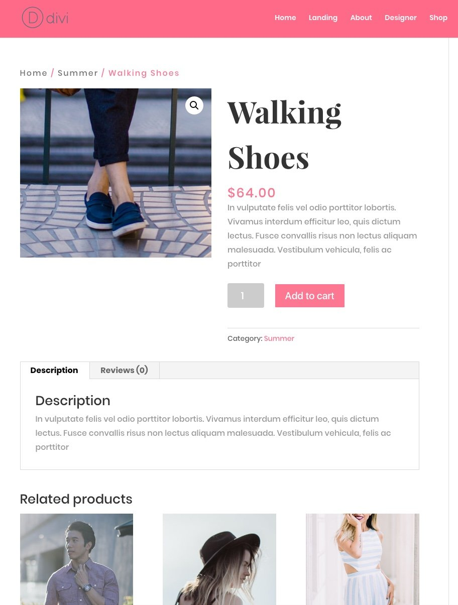 using divi s fashion layout pack to create an online store with
