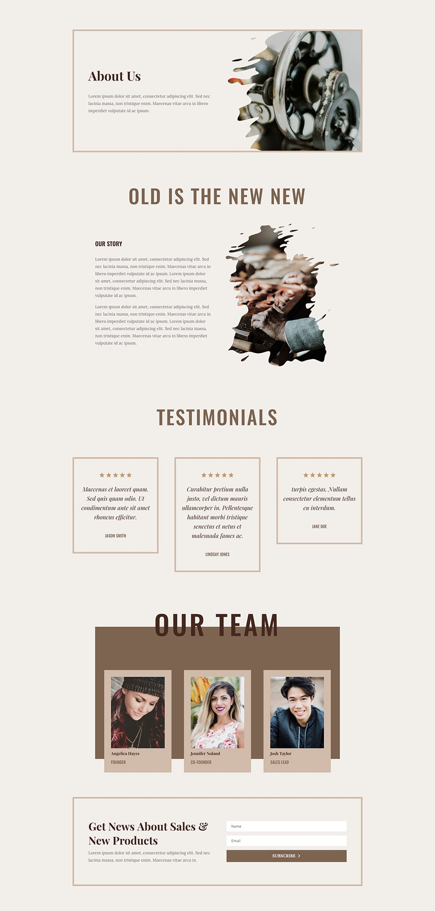 Online Store Layout Pack About Page