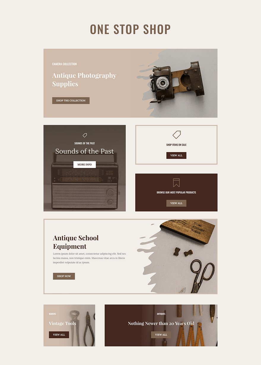 Online Store Layout Pack Categories Page