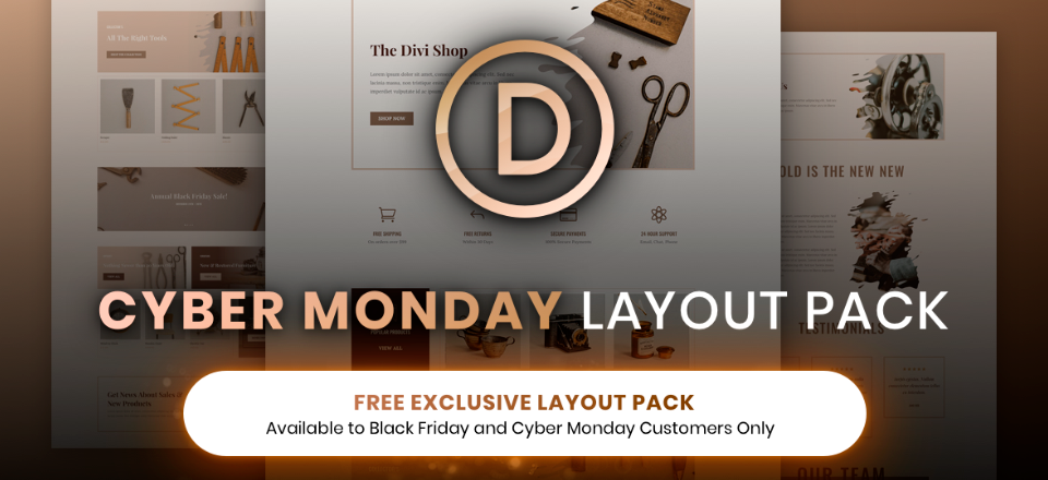 How to Use the Exclusive Cyber Monday Divi Layout Pack for Online Stores and Bloom to Incentivize New Visitors with a Coupon Code