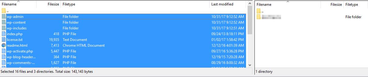 Uploading files via FTP.