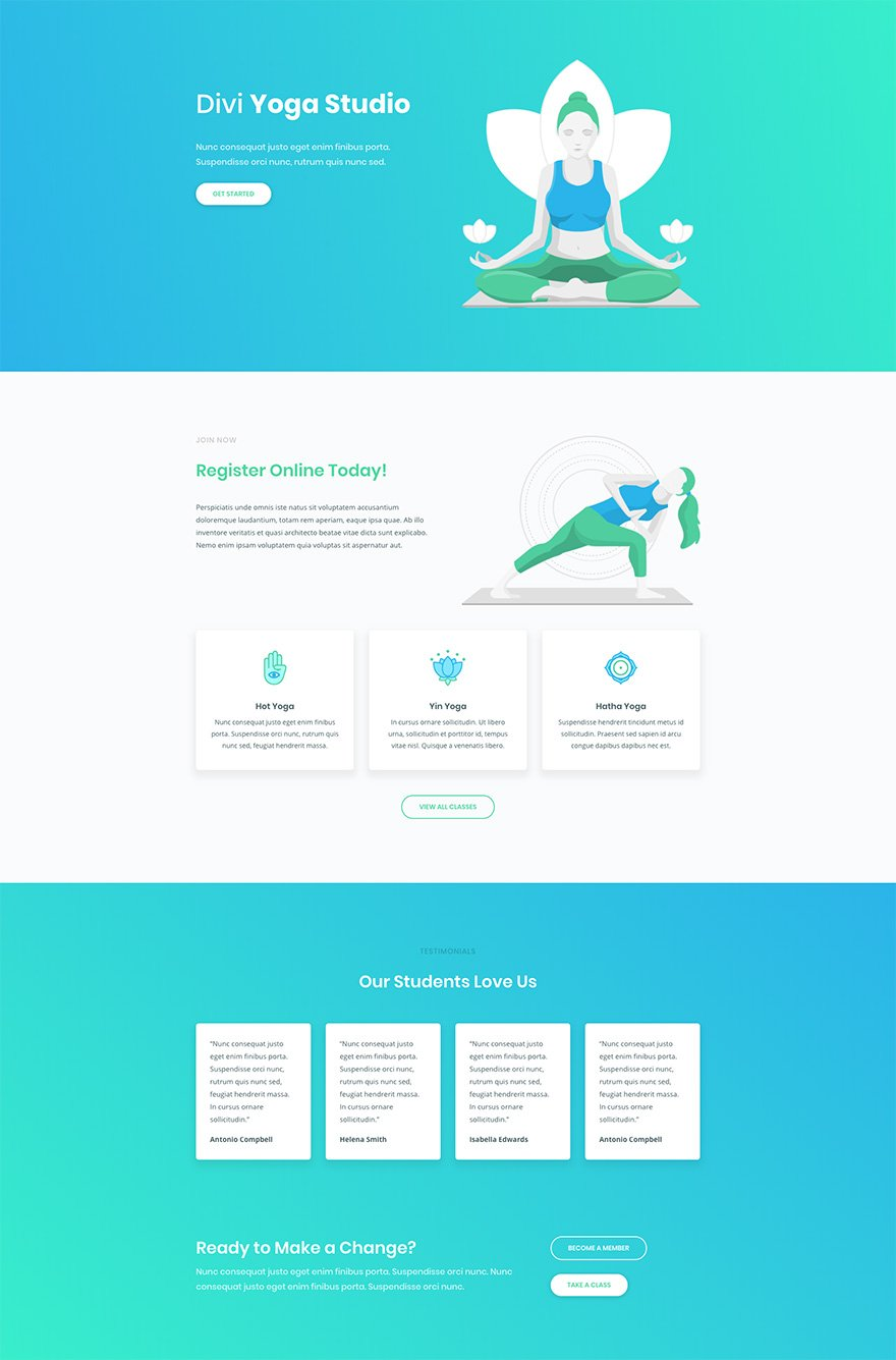 Download a Free & Inspiring Yoga Layout Pack for Divi | Elegant ...
