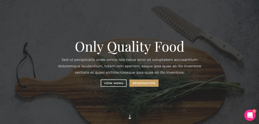 Divi Restaurant Layout Pack